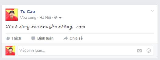 Tạo ký tự đặc biệt trên Facebook