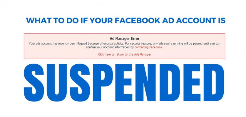 Khóa tài khoản quảng cáo Facebook ads
