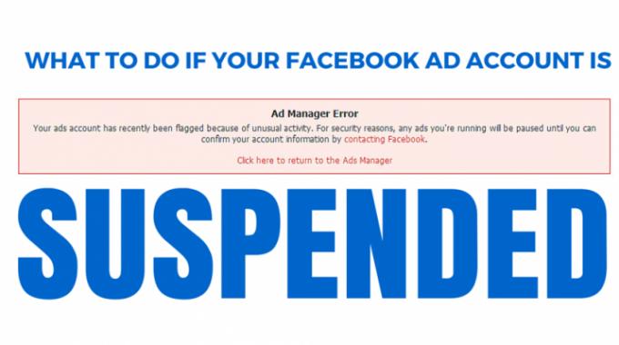 Những lý do có thể khiến tài khoản Facebook Ads của bạn bị KHÓA