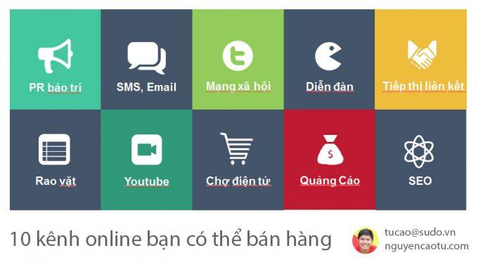 Những kênh bán hàng Online hiện nay, bạn biết bao nhiêu?